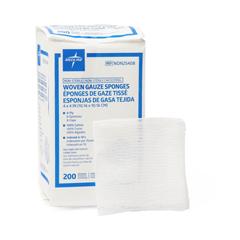 MEDNON25408H - Medline - Nonsterile 100% Cotton Woven Gauze Sponges, 200 EA/PK