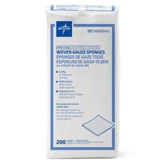 MEDNON25412H - Medline - Nonsterile 100% Cotton Woven Gauze Sponges, 200 EA/PK