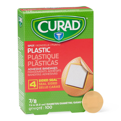 MEDNON25501H - Medline - CURAD Plastic Adhesive Bandages, Natural, No, 100 EA/BX