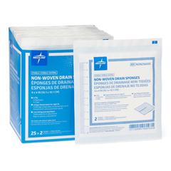 MEDNON256000H - Medline - Avant Sterile Nonwoven Gauze Drain Sponge, 50 EA/BX