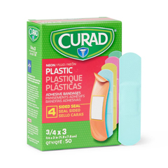 MEDNON256131Z - Curad - Neon Adhesive Bandages, Natural