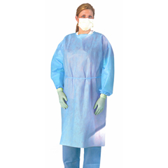 MEDNON27SMS3 - MedlineMedium Weight Multi-Ply Fluid Resistant Isolation Gown