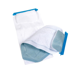 MEDNON4430 - Medline - Refillable Ice Bag with Clamp Closure and Dual Pouches, White, 5 x 12