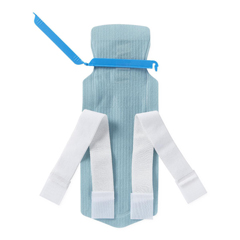 MEDNON4450 - Medline - Refillable Ice Bag with Clamp Closure and Hook-and-Loop Straps, White, 5 x 12