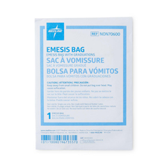 MEDNON70600H - Medline - Clean Sack Emesis Bag with Paper Funnel and Graduations