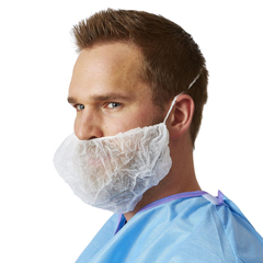 MEDNONSH400 - MedlineBeard Covers-White-One Size Fits Most