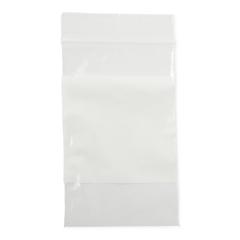 MEDNONZIP35 - MedlineBag, Zip, White Write-On Block, 3x5, 2Mil