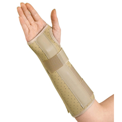 MEDORT18100RM - Medline - Vinyl Wrist and Forearm Splints, Medium, 1/EA
