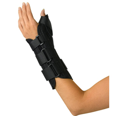 MEDORT18210LM - Medline - Wrist and Forearm Splint with Abducted Thumb, Medium, 1/EA