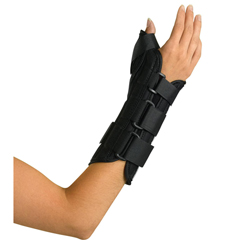 MEDORT18210RL - Medline - Wrist and Forearm Splint with Abducted Thumb, Large, 1/EA