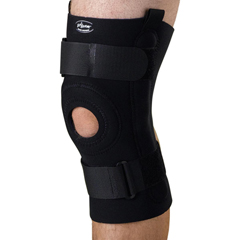 MEDORT23220S - Medline - U-Shaped Hinged Knee Supports, Black, Small, 1/EA