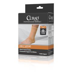 MEDORT26100MD - Curad - Elastic Open Heel Ankle Supports, Beige, Medium