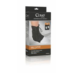 MEDORT27600MD - Curad - Retail Vinyl Lace-Up Ankle Splints, Black, Medium
