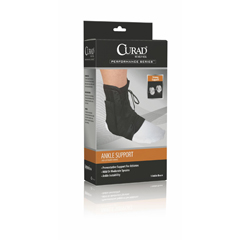 MEDORT27600SD - Curad - Retail Vinyl Lace-Up Ankle Splints, Black, Small