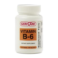 MEDOTC0044091 - MedlineGeneric OTC Vitamin B-6, Tablets, 100 Mg, 100 Bt