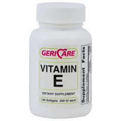 MEDOTC0047982 - MedlineGeneric OTC Vitamin E, Soft Gel, 200 Indiv Units, 100 Bt