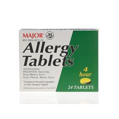 MEDOTC01224 - MedlineGeneric OTC Allergy Tabs, 4Mg, 24 Box (Chlor Trimeton)