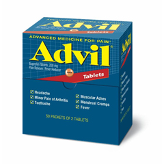 MEDOTC015489 - MedlineOTC Advil Tablets, Unit Dose 24 Box Cs