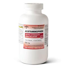 MEDOTC20110 - MedlineGeneric OTC Acetaminophen, Tab, 500Mg, 1000 Bt (Tylenol)