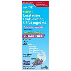 MEDOTC20738 - Medline - Loratadine, 5 mg/5 mL Oral Solution, 4 oz. Bottle