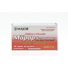 MEDOTC234997N - MedlineGeneric OTC Acetaminophen Tabs, Childrens, 80 Mg, 30 per Bottle