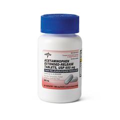 MEDOTC33350N - MedlineAcetaminophen Extended Release Caplets, 50 per Bottle
