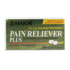 MEDOTC513559 - MedlineOTC Pain Reliever Plus Tabs, 100 Bt (Compare to Excedrin)