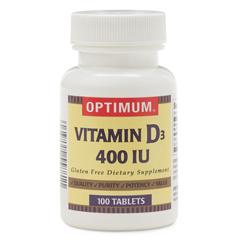 MEDOTC55881 - MedlineGeneric OTC Vitamin D, 400 Indiv Units Tablets, 100 Bt