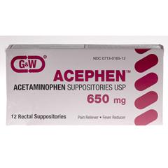 MEDOTC6031260BX - MedlineGeneric OTC Acetaminophen, Suppositories, 650Mg, 12 Box