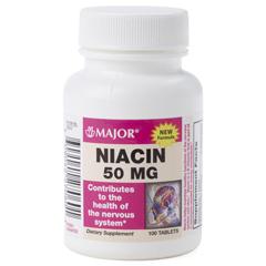 MEDOTC700513 - MedlineOTC Niacin Tabs 50Mg, 100 Bt (Compare to Niacin)