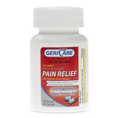 MEDOTC873601 - Geri-Care - Acetaminophen Rapid Release Gel Caps, 500 mg, 100 per Bottle