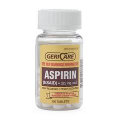 MEDOTC90101 - MedlineGeneric OTC Aspirin, Tablets, 325 Mg, 100 Bt