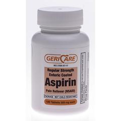 MEDOTC92101 - MedlineGeneric OTC Aspirin, Tabs Ec, 100 Bt, 325 Mg (Ecotrin)