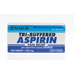 MEDOTC93101 - Medline - Generic OTC Aspirin, Buffered, 325Mg, 100 Bt (Bufferin)