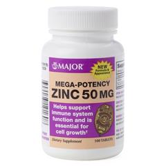 MEDOTCS0296C2 - MedlineGeneric OTC Zinc Gluconate, Tablet, 50 Mg, 100 Bt