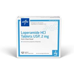 MEDOTCS0801C2 - Medline - OTC Anti-Diarrheal, Caplets, 12 Ea (Compare to Imodium AD)