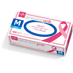 MEDPINK6075H - MedlineGeneration Pink 3G Synthetic Exam Gloves