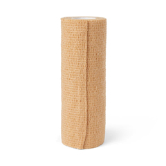 MEDPRM088006 - Medline - Bandage, Cohesive, Caring, Tan, 6x5Yd, Latex-Free