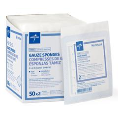 MEDPRM2208Z - Medline - Sterile 100% Cotton Woven Gauze Sponges, 100 EA/BX