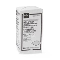 MEDPRM25444 - MedlineNonsterile Nonwoven Gauze Sponge, 2000 EA/CS