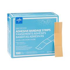 MEDPRM25500H - Medline - Caring Plastic Adhesive Bandages, Natural, No, 100 EA/BX