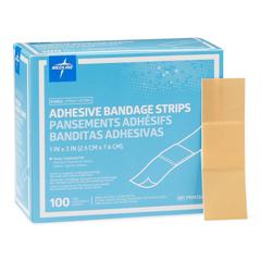 MEDPRM25600 - Medline - Bandage, Adhesive, Plastic, 1x3