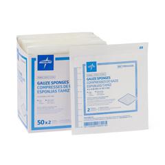 MEDPRM4408H - Medline - Caring Woven Sterile Gauze Sponges