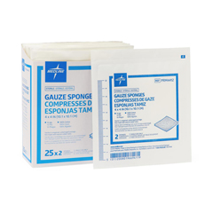 MEDPRM4412H - Medline - Sterile 100% Cotton Woven Gauze Sponges, 50 EA/BX