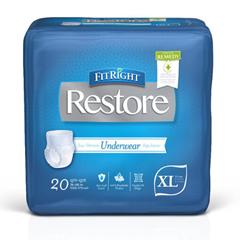 MEDRUW600 - MedlineFitRight Restore Protective Underwear, X-Large, 80 EA/CS