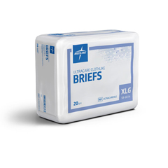 MEDULTRACAREXLGZ - Medline - Ultracare Adult Incontinence Briefs, 59-66, 20 EA/BG