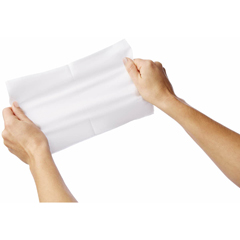 MEDULTRASFT1013Z - Medline - Ultrasoft Disposable Dry Cleansing Cloths, White, 10X13, 50 EA/BG