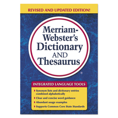 MER7326 - Merriam Webster Paperback Dictionary and Thesaurus
