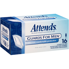 MON40003101 - AttendsBladder Control Pad Attends Guards For Men Light Absorbency Polymer Male