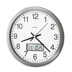 MIL625195 - Howard Miller® Chronicle Wall Clock with LCD Inset